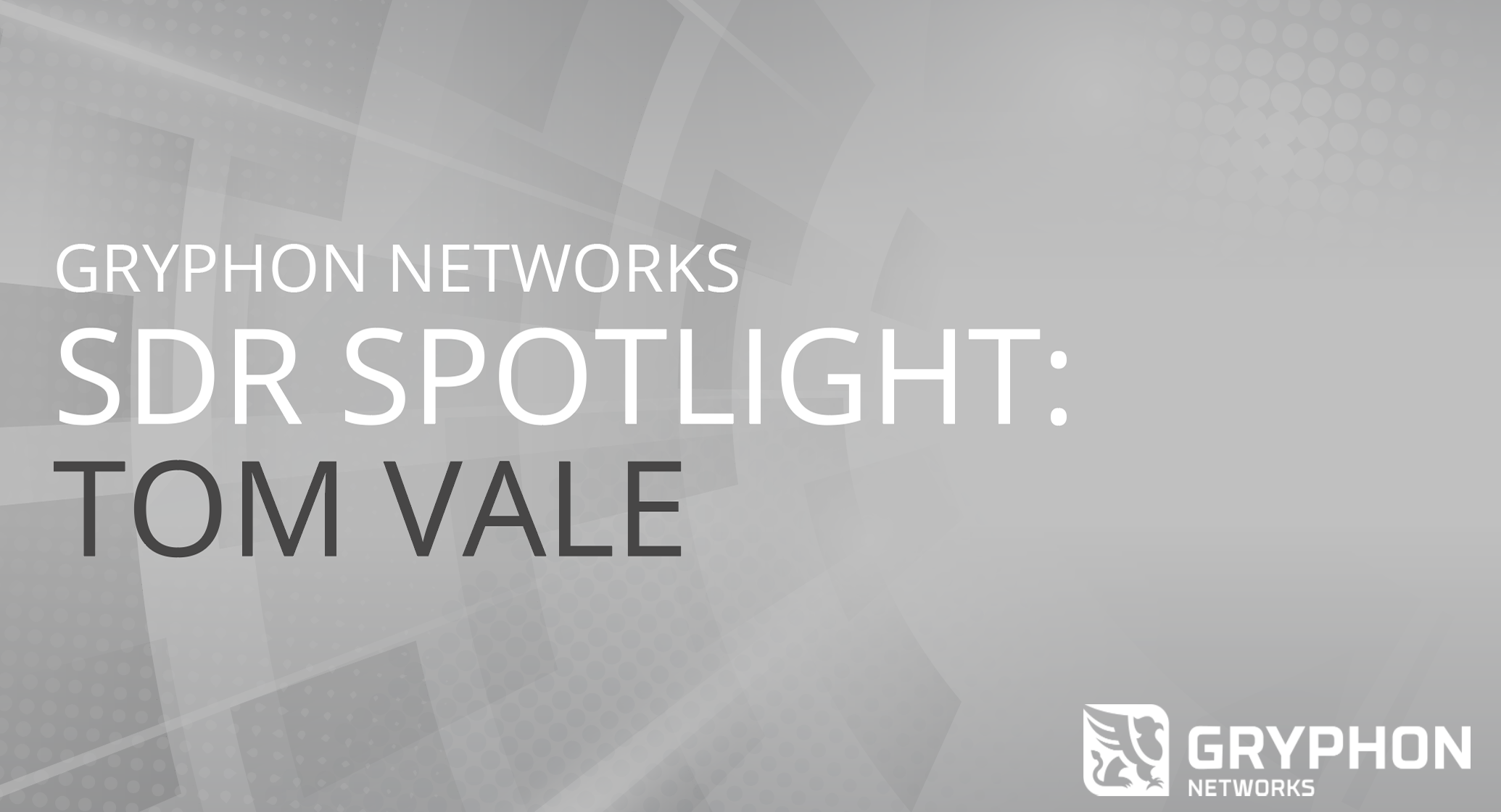 SDR SPOTLIGHT: INTERVIEW WITH TOM VALE