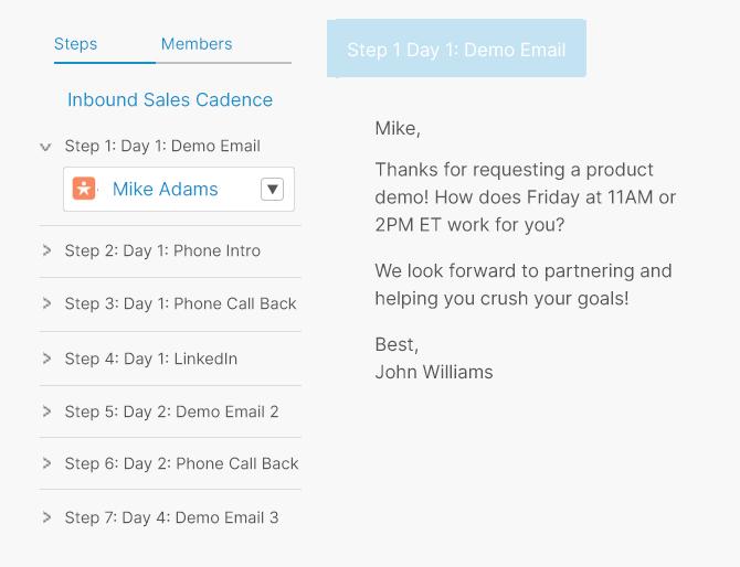 sales cadence software